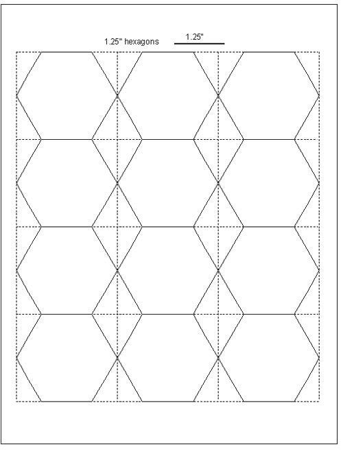 Easy cut hexagon templates for epp free download for Hexagon quilt template plastic