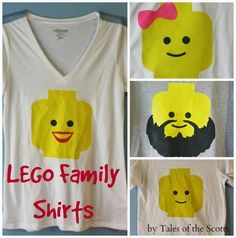 tales of the scotts | DIY, Children's Crafts, Home Decor: LEGO Family T-Shirts
