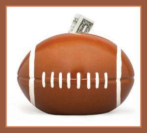Football Sports Themed Ceramic Kids Piggy Bank BedroomDecor http://theceramicchefknives.com/ceramic-piggy-banks/