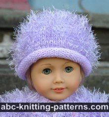 ABC Knitting Patterns - American Girl Doll Fur Coat