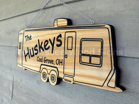 Personalized RV Camper Signs - This is a TRAVEL TRAILER Camper we also have 5th Wheel, Class A-Camp Ground-Gift-R V- Bumper Pull-Tow Behind