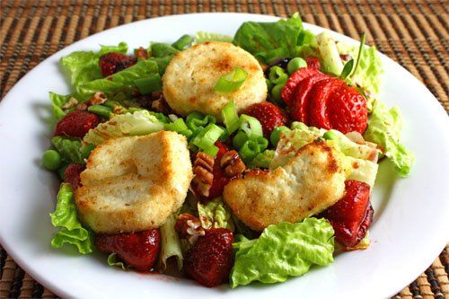 Check out Roasted Strawberry Salad with Baked Goat Cheese. It's so ...