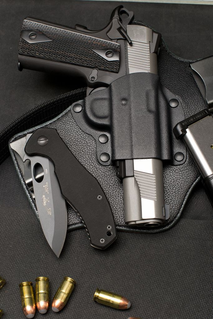 kydex and leather IWB 1911 holster