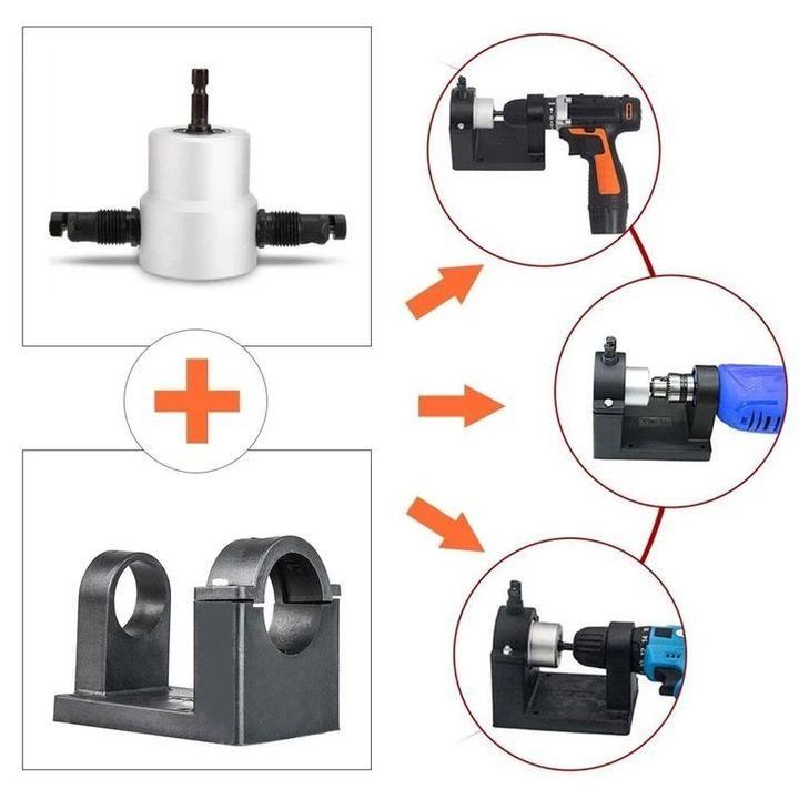 Nibbler Cutter Drill Attachment Double Head Metal Sheet In 2020 Metal Sheet Metal Cutter Drill