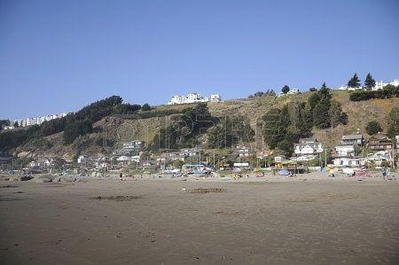 Beach, Mantencillo  chili maritime village