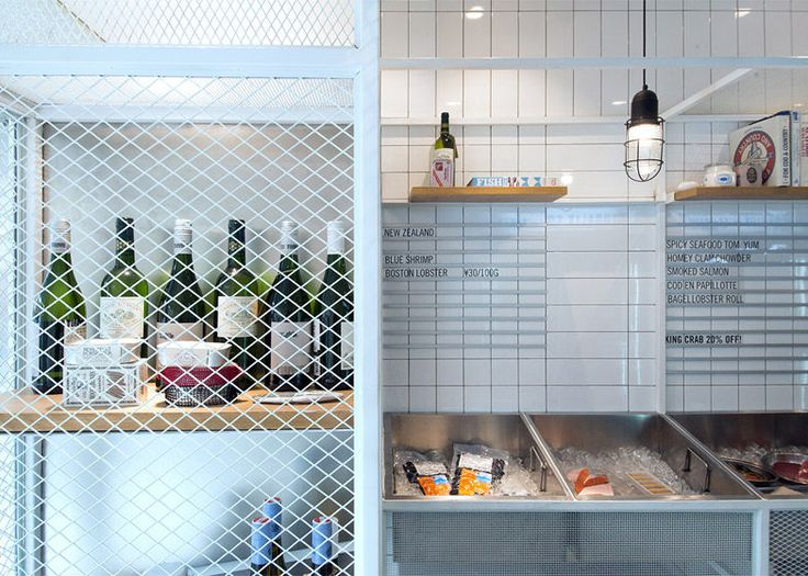 Seafood Shop - Located in Shanghai's French Concession district, the Little Catch is a tiny seafood shop making the most of its space with a playful design ...