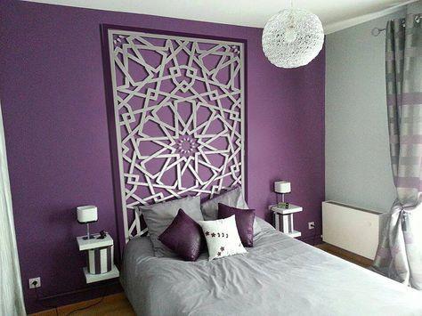 t te de lit orientale et porte marocaine decoration. Black Bedroom Furniture Sets. Home Design Ideas