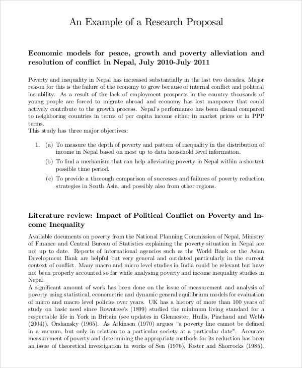 Research Proposal Templates 10+ Free Printable Word  PDF Samples