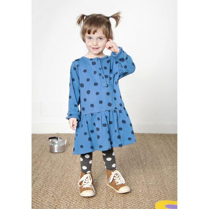 Φόρεμα nadadelazos από οργανικό βαμβάκι - Blue Dots