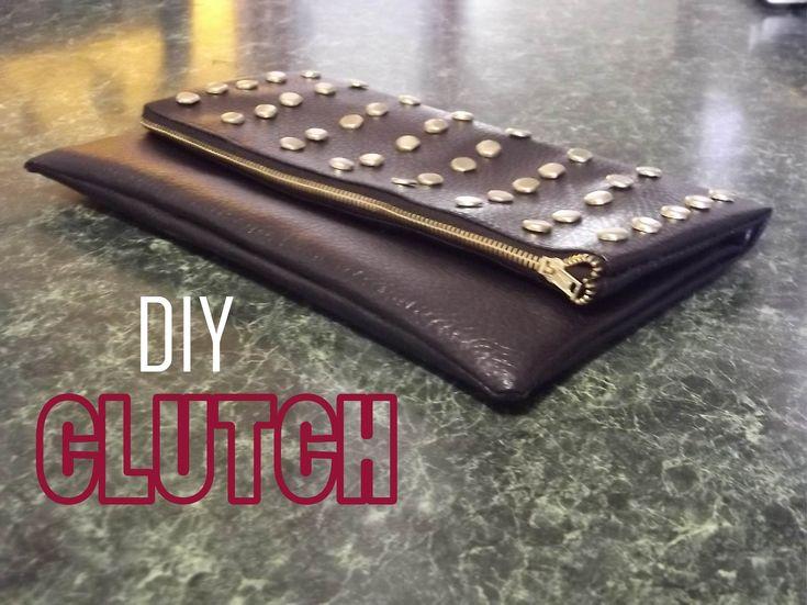 Como hacer clutch con tachuela DIY DIY- BOLSO DE MANO Bolso de mano con tachuelas  Handbag