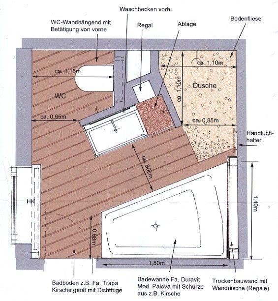 Die Besten 25+ Bad Grundriss Ideen Auf Pinterest Badezimmer   Badezimmer 3  5 Qm