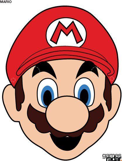 Fazendo a Minha Festa - Moldes: Máscara Mario Bros!