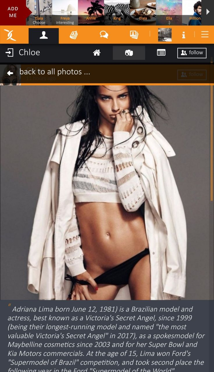 "Adriana Lima born June 12, 1981) is a Brazilian #model and #actress, best known as a #Victoria's #Secret #Angel, since 1999 (being their longest-running model and named ""the most valuable Victoria's Secret Angel"" in 2017), as a spokesmodel for Maybelline cosmetics since 2003 and for her Super Bowl and Kia Motors commercials. At the age of 15, Lima won Ford's ""Supermodel of Brazil"" competition, and took second place the following year in the Ford ""Supermodel of the World"" competition before…"