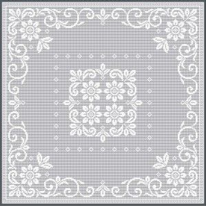 Filet Crochet Designs » Filet Crochet Pattern / Ref. No NJ3-1 Can work for parchment too!!!