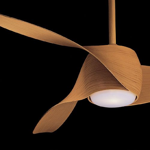 Artemis ceiling fan in wood (veneer?) finish, manufacturer Minka Aire