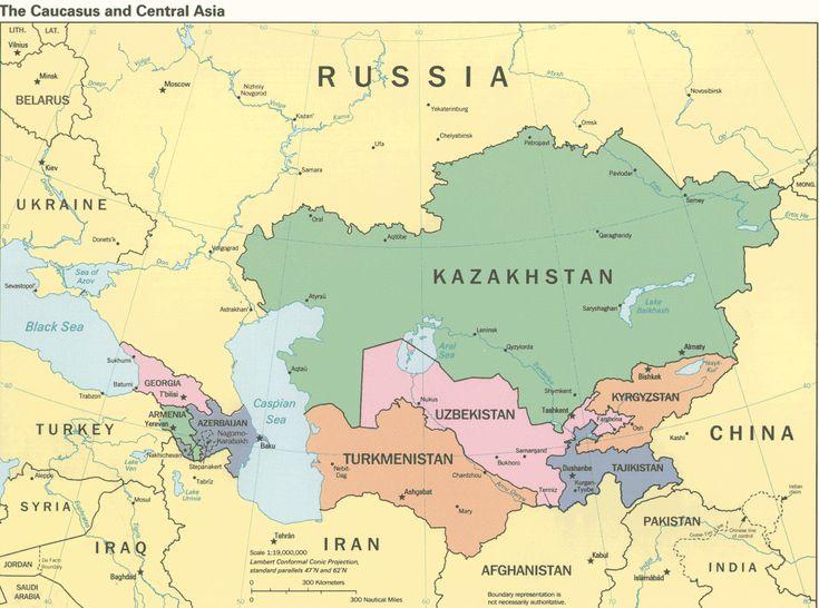 Asia Caucasus and Central Asia Map