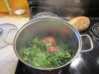 Southern Collard Greens with Ham HocksHams Hocking, Foie Gras, Southern Collard Green, Collard Greens, Hocking Recipe, Cookbooks Recipe, Fatback, Favorite Recipe, Real Food