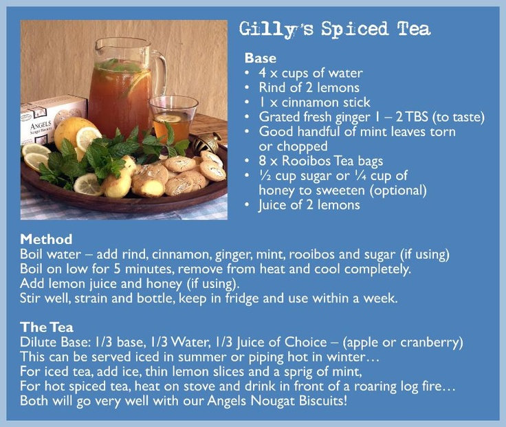 Gilly's Spiced Tea from Wedgewood Nougat