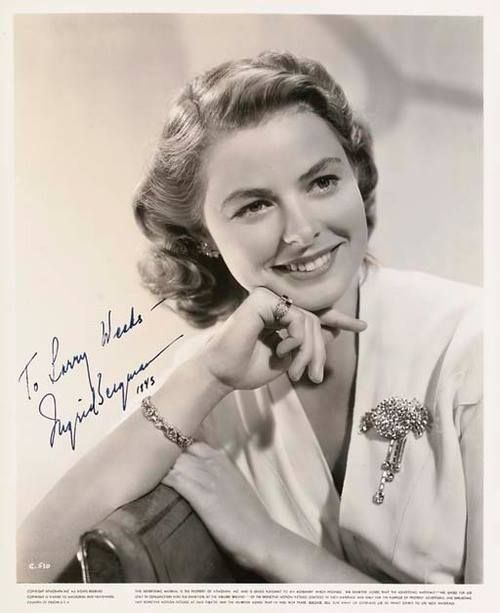"autographed picture from the filming of ""Casablanca""."