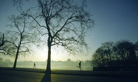 Hyde Park in London, UK