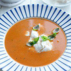 Zupa krem ze świeżych pomidorów | Kwestia Smaku