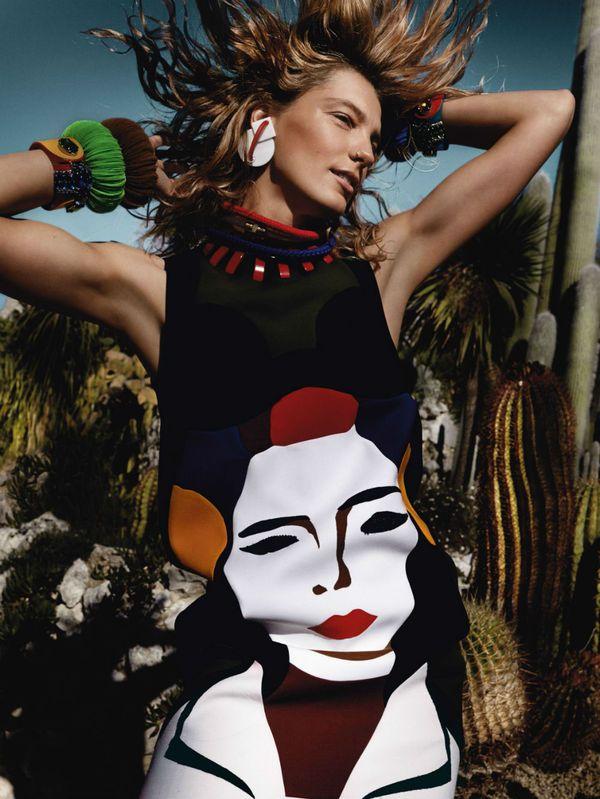 Mario Testino Captures Daria Werbowy for Vogue UK March 2014