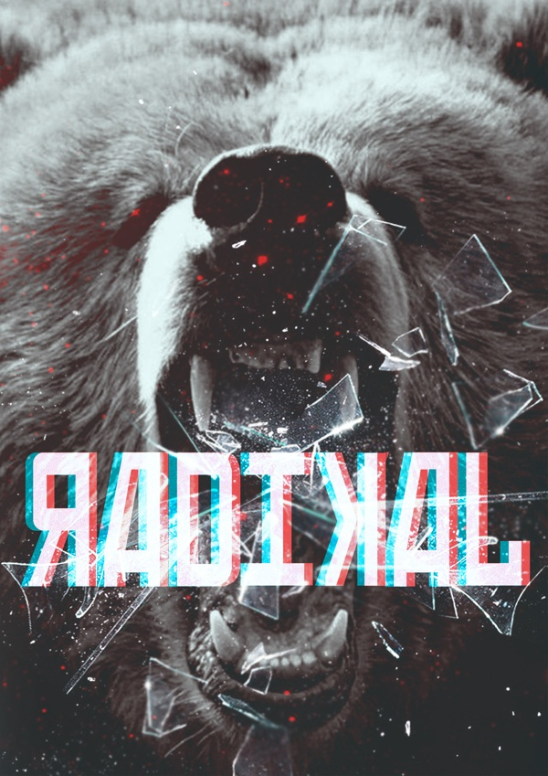 ЯАDIKAL by Nikita Akpanov, via Behance