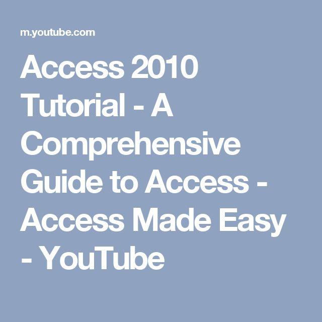 microsoft access quick tutorial pdf