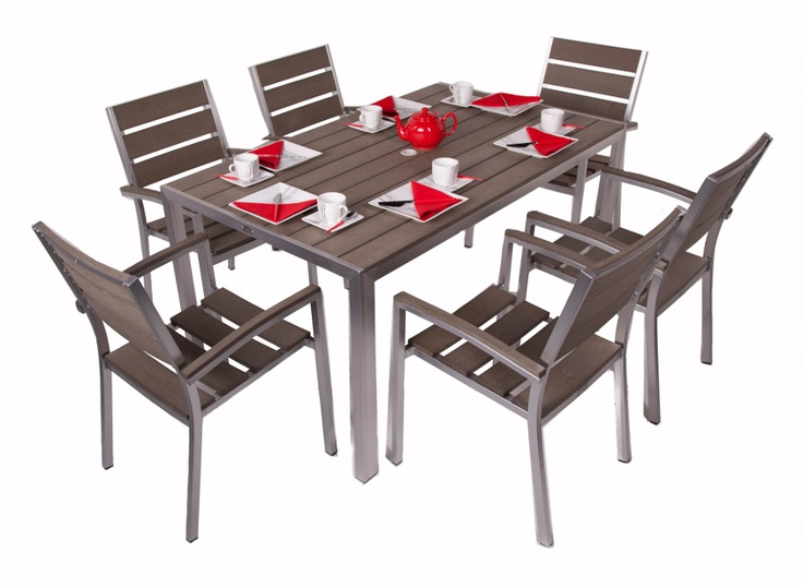 Plaswood table and chair set.