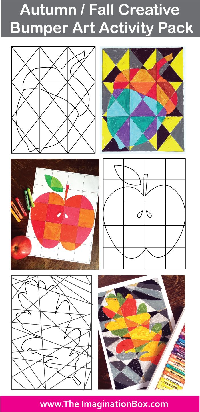 This detailed creative Autumn/Fall themed Art activity pack has been designed to enthuse and engage children in a fun, experimental way. The templates and worksheets aim to encourage the exploration of color themes, geometric shape, abstract pattern, mark making, doodling and graphic design, whilst also providing Fall themed decorations for the classroom or home. Shapes include acorn, oak leaf, maple leaf, apple, pumpkin