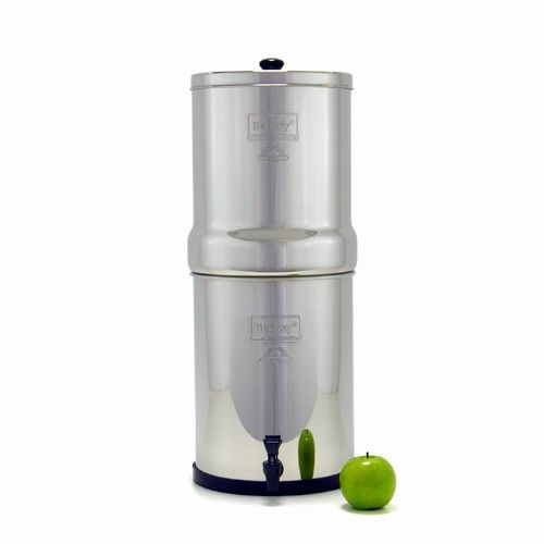 "VV: Royal Berkey Water Filter.  It doesn't just filter water... it purifies water to 99.9999% free of pathogens using 2 or 4 ""Black Berkey Filter Elements"". Bigger or smaller sizes also available."
