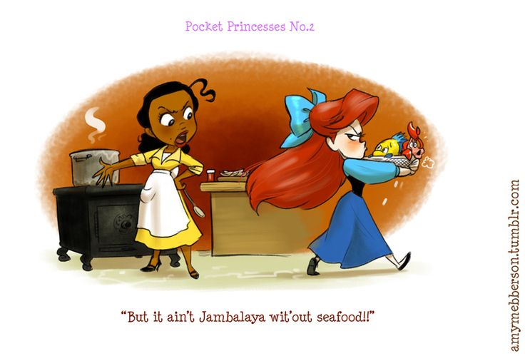 Disney princesses don't always get along in these adorable comics.