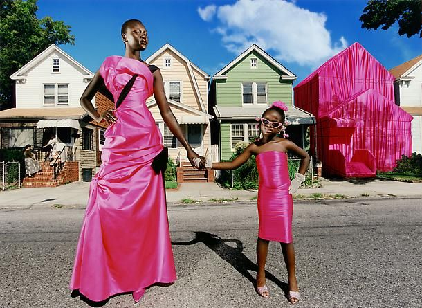 I love the vivid color in David LaChapelle's photographs. This Is My House with model, Alek Wek, is one of my favorites.