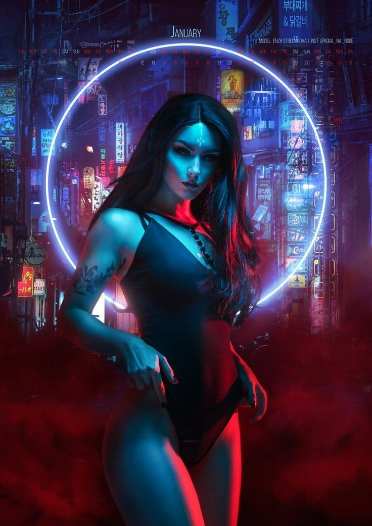 "Cosplayer photographer's ""Neon Witches"" is an amazing 2019 calendar – #Amazing #Calendar #cosplay #Cosplayer #Neon"