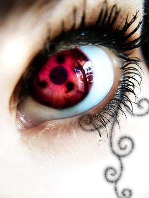 Sharingan eyes from Naruto. I love this so much!