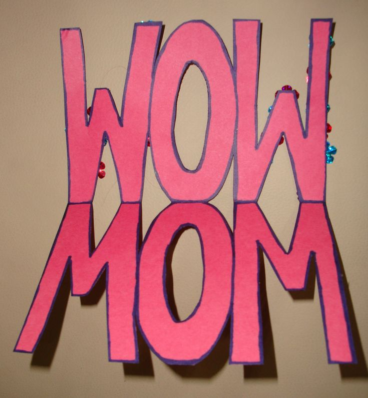 "Mother's Day ""WOW MOM"" Card Craft"