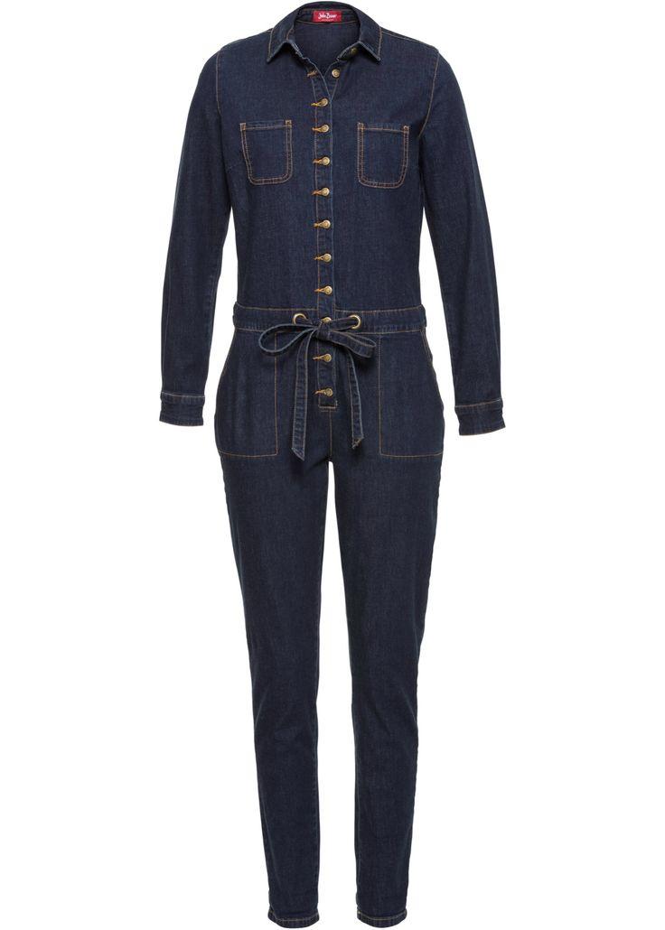 Commandez maintenant Combinaison en jean bleu foncé à partir de 37,99 ? sur bonprix.fr. Combinaison en jean avec deux poches poitrine, cordon coulissé à la ...