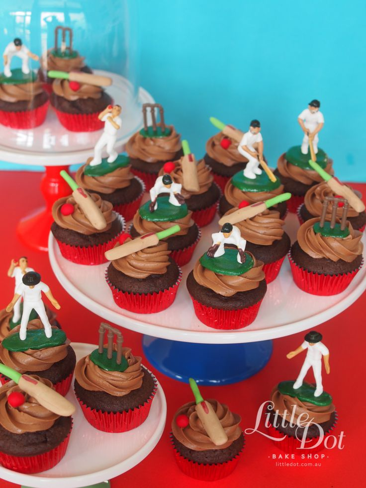 Little Dot Cricket themed cupcakes