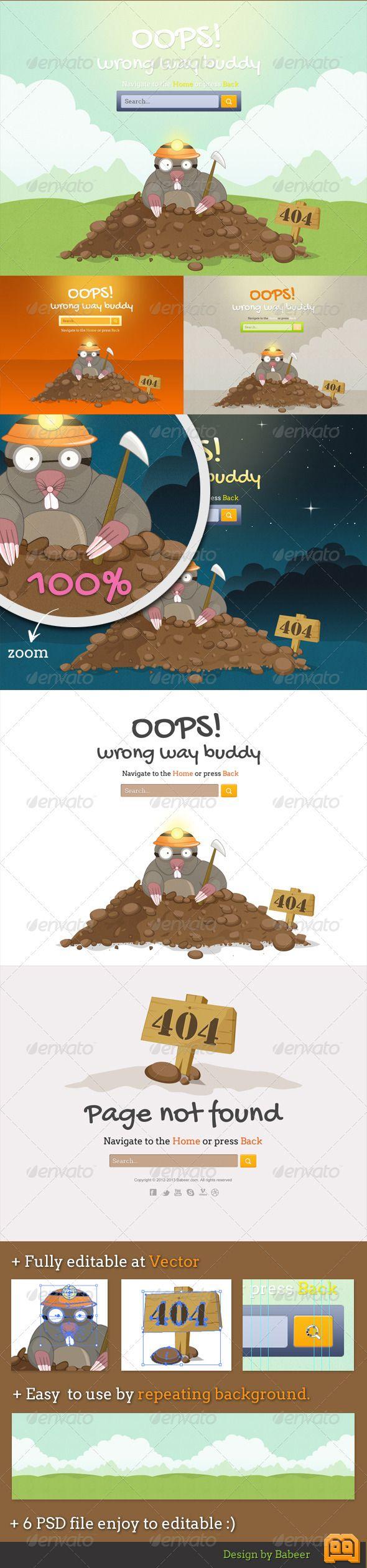Mole 404 Error Pages
