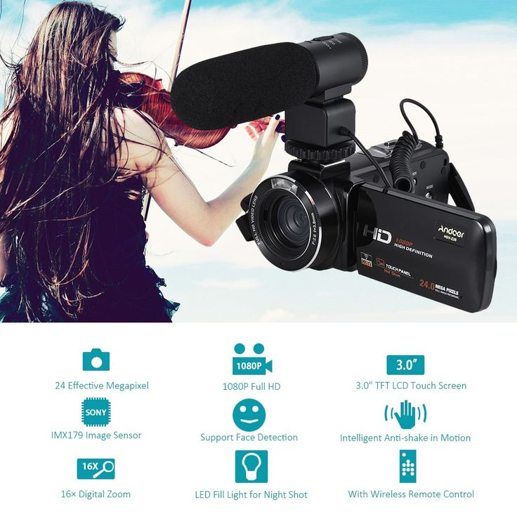 Andoer HDV-Z20 1080P Full HD 24MP WiFi Digital Video Camera Sale Online Shopping color1 - Tomtop.com