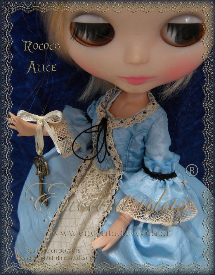 Blythe Rococo Alice - Maria Antonieta detalles 1 by Encantadas.deviantart.com on @DeviantArt