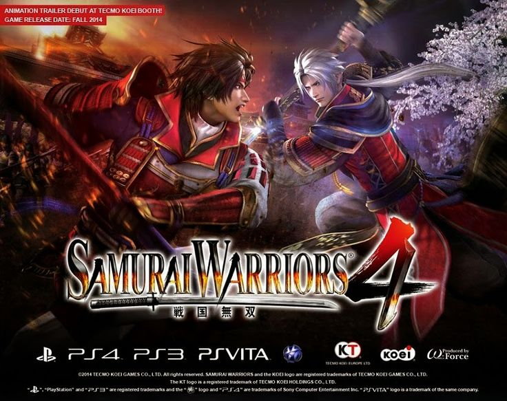 Top-PS4-PS3-PS-Vita-Games-Out-This-Week-October-21-2014  This week on PlayStation's Platform we get to experience Samurai Warrior 4 the hack-n-slash adventure on PS4 and PS3. Celebrating its 10th anniversary, Samurai Warrior 4 is packed full of new content from characters to weapons and two different ways of playing the game in story mode.  #PS4Games #PS3Games #PlayStationGames