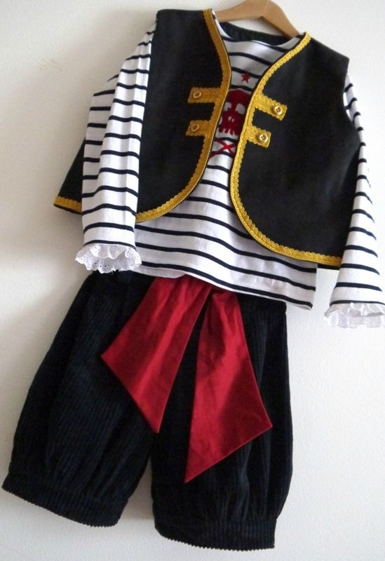DIY pirate costume for boy or girl (with or without lace)