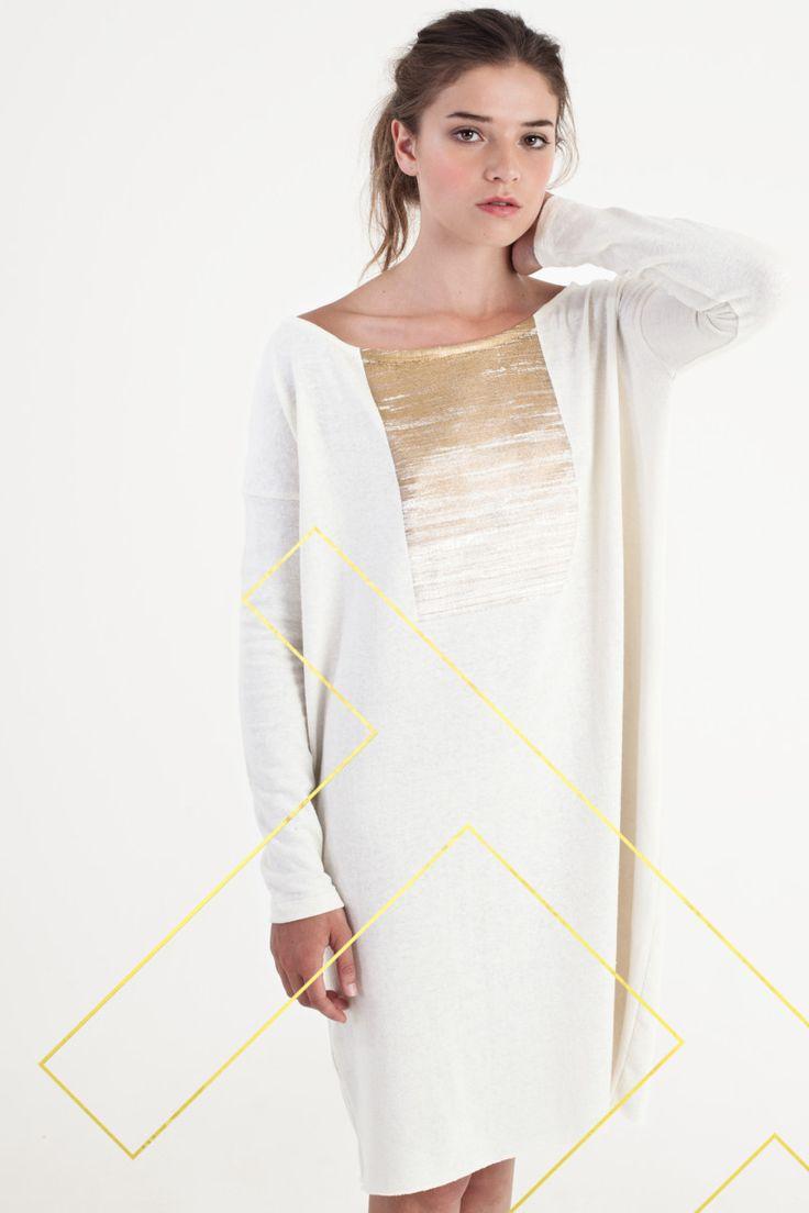 Sitting Pretty | Shop | AW15 | Organic | Gold Fire knit dress