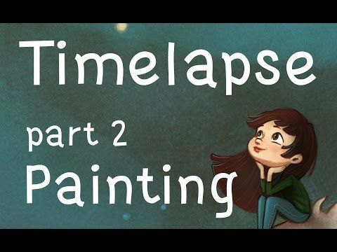 dragon girl part 2 timelapse painting