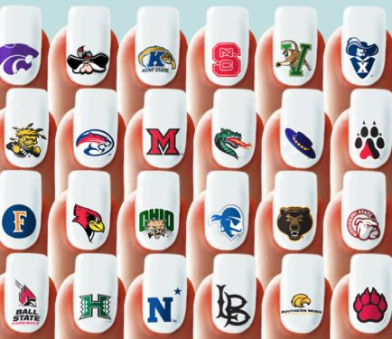 45 best sports nails images on pinterest nail art designs nail get college themed nail wraps for football games or graduations university nails sports prinsesfo Images