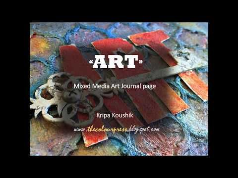 the Colour Press: Video Tutorial : 'Art' Journal using 2crafty chipboard and Colourarte