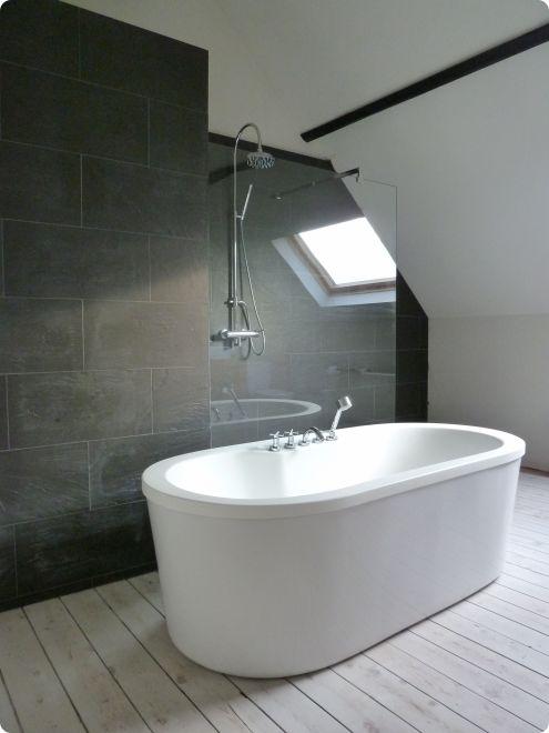 Vrijstaand bad interieur bad douche pinterest badkamer vrijstaand bad en bad - Decoratie douche badkamer ...