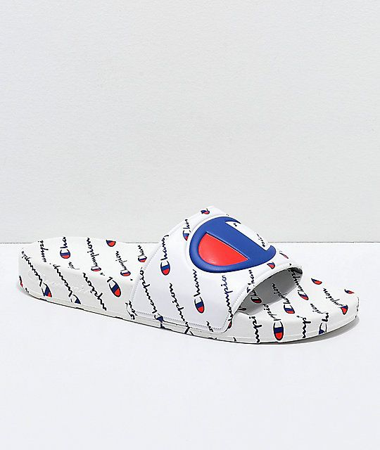 78e0697467d Champion IPO Repeat White Slide Sandals in 2019