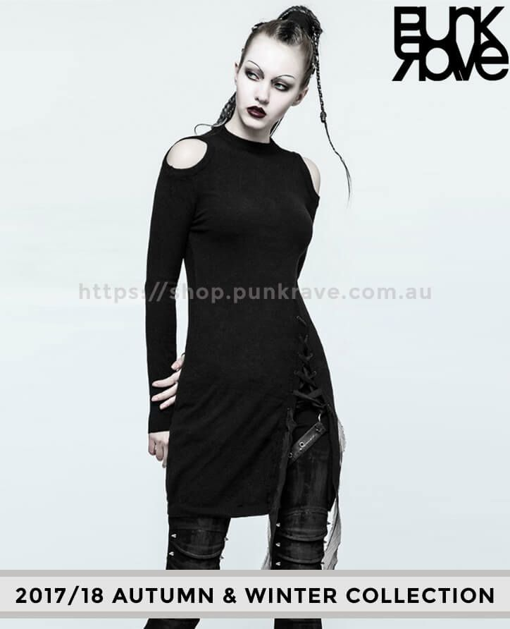 Punk Rave Australia has specialized in designing and making historically inspired dresses. Show off your shoulders with our 2017/18 Gothic Slit Strapless Shoulder Sweater that can match your mood according to your occasion. Grab it now  https://shop.punkrave.com.au/